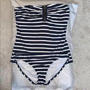Michael Kors 2 piece Tankini navy/white stripe XS